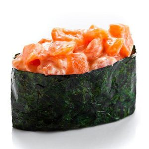 гункан с лососем в крюковщине